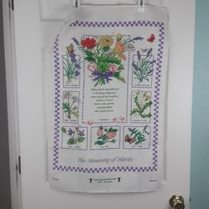 The Meaning of Herbs Linen Tea Towel New Zealand